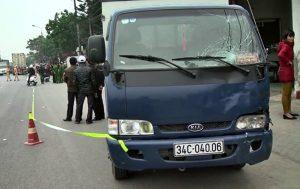 Chiếc xe gây tai nạn tại Hưng Yên
