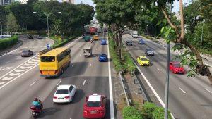 Một tuyến đường tại Singapore - giao thông thông minh